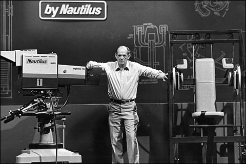 Arthur Jones in the Nautilus Television Studio