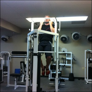 Strict chin ups on a modified Nautilus Omni Multi Exercise