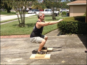 DIY Timed Static Contraction Squat