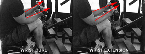 Thick bar wrist curls and extensions on the Nautilus Omni Multi Exercise