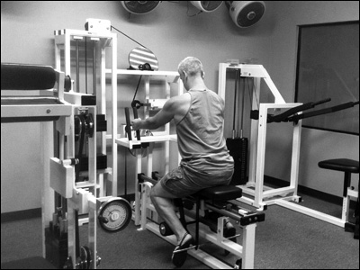 Training on a RenEx Compound Row machine with adjustable cam timing
