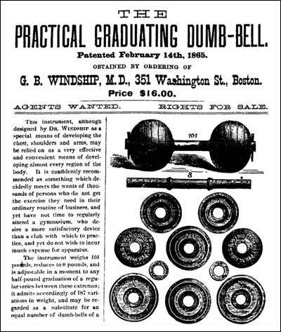 George Barker Windship's Practical Graduating Dumbbell