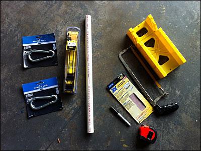 DIY Suspension Trainer Materials