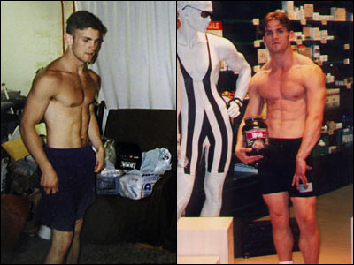 Drew Baye  before and after starting High Intensity Training