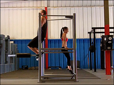 Chin-ups and dips on the UXS bodyweight multi-exercise station
