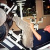"Lunatic evangelist Pat Robertson performing ""strong range"" partial reps on the leg press with two thousand pounds"