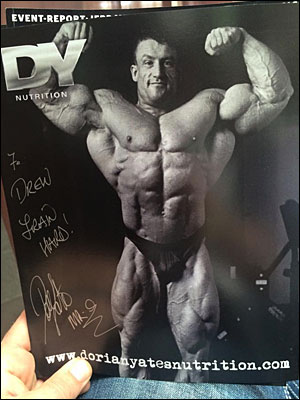 Dorian Yates' autographed photo