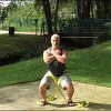 Drew Baye demonstrating a TSC belt squat
