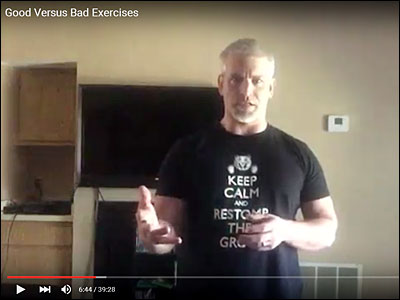Good Versus Bad Exercises