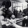 Mike Mentzer performing preacher curls