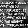 What exercise is about