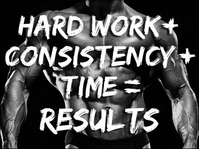 Hard Work + Consistency + Time = Results