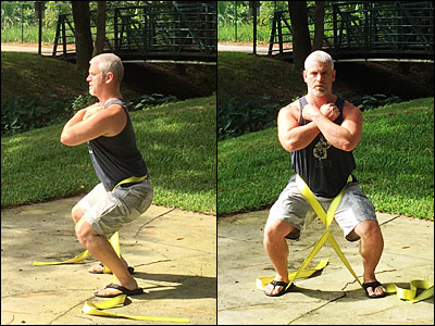 Timed Static Contraction belt squat