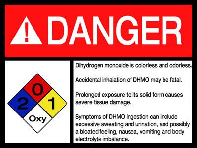 Dihydrogen Monoxide Warning